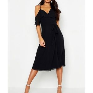 NWT Off shoulder wrap dress